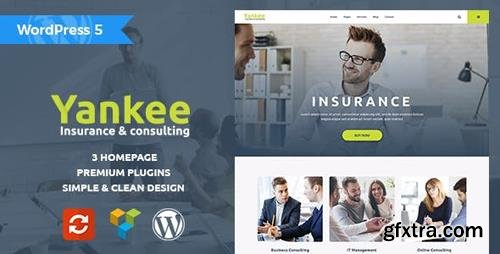 ThemeForest - Yankee v1.1.1 - Insurance & Consulting WordPress Theme - 19745716