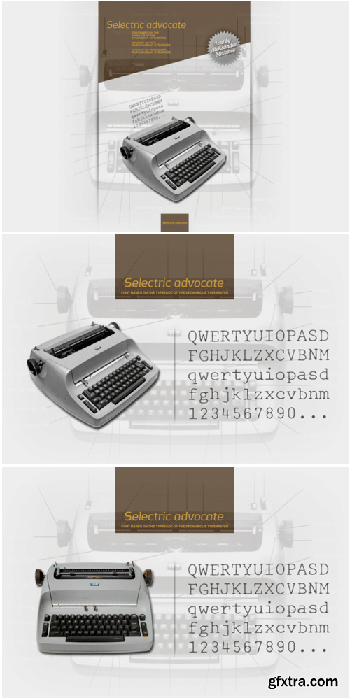 Selectric Advocate Font