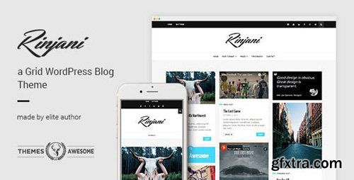 ThemeForest - A Responsive Grid Blog Theme - Rinjani v1.6 - 13307715
