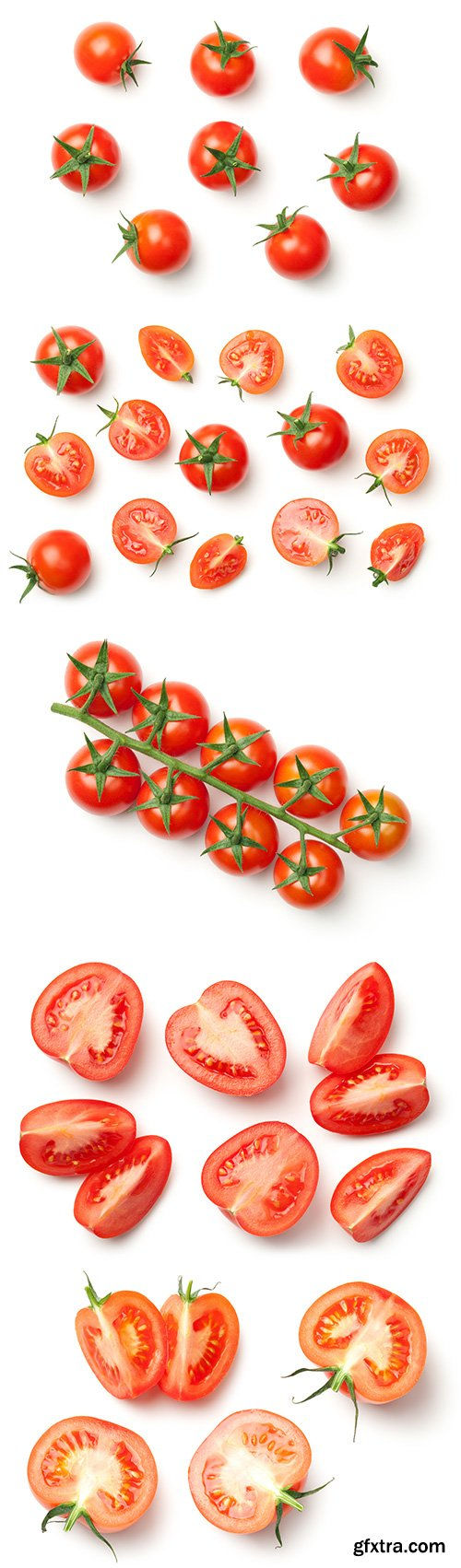 Cherry Tomatoes Isolated - 6xJPGs