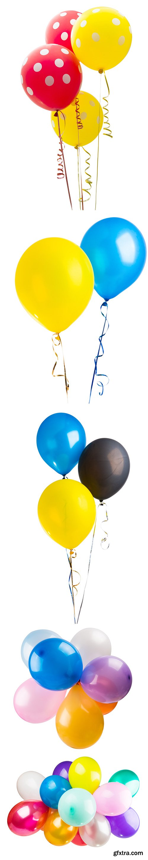 Colored Balloons Isolated - 10xJPGs