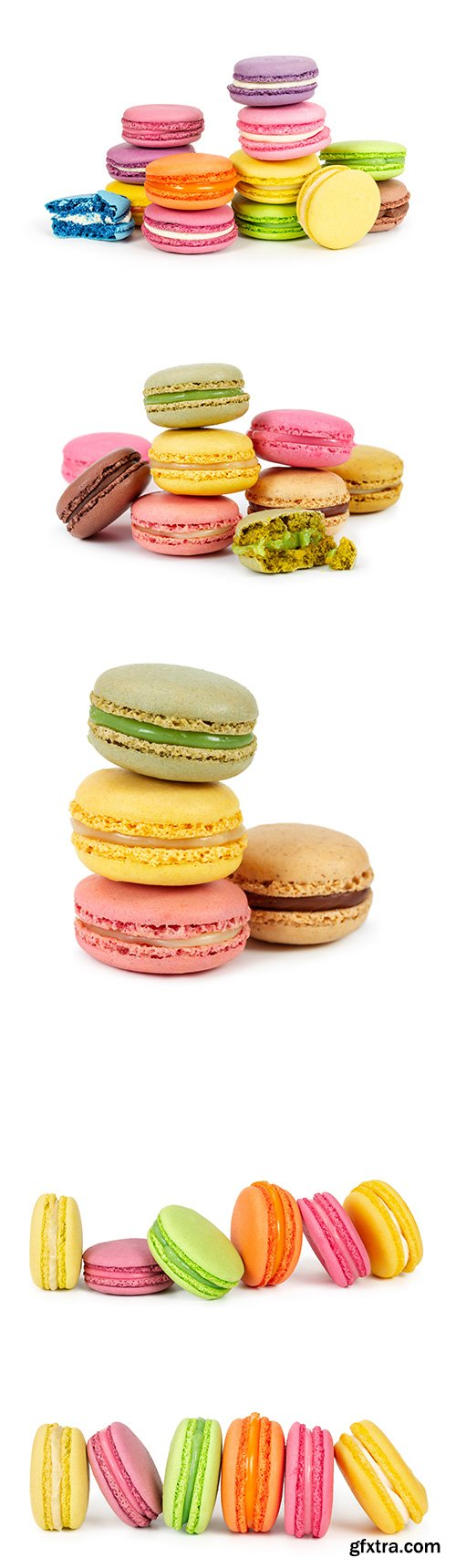Colorful Macaroons Isolated - 6xJPGs