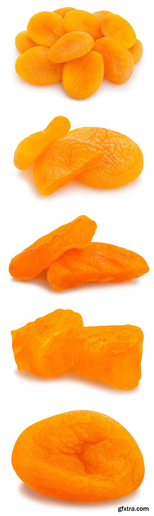 Dried Apricots Isolated - 7xJPGs