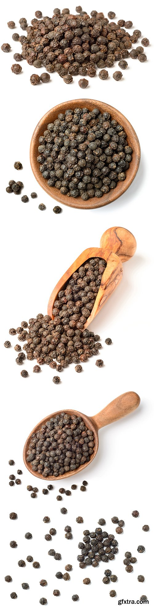 Dried Black Peppercorns Isolated - 8xJPGs
