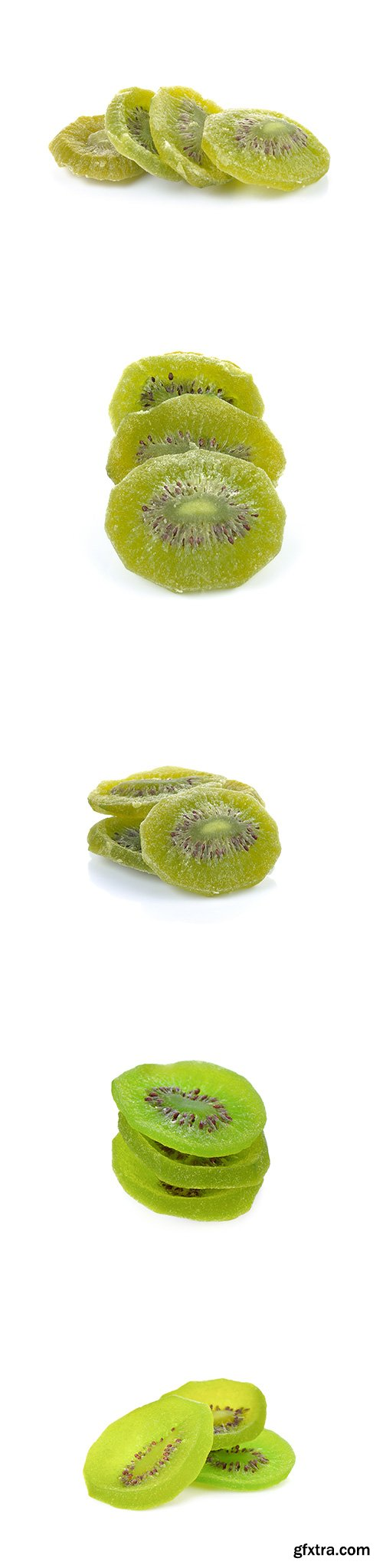 Dried Kiwi Isolated - 5xJPGs