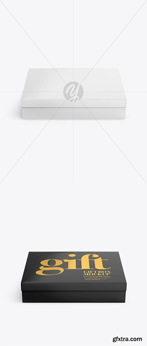 Glossy Paper Box Mockup 43228