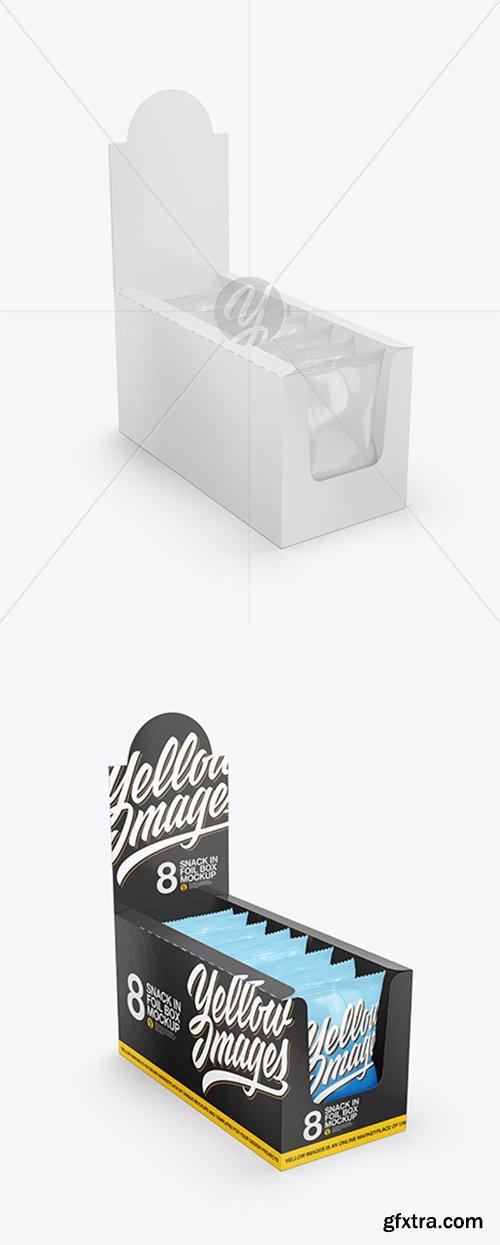 Glossy Display Box with Snacks Mockup 43232