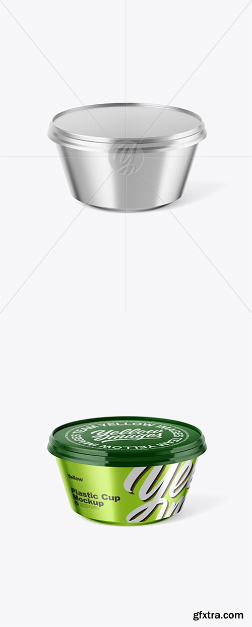 Metallic Yoghurt Cup Mockup 43264