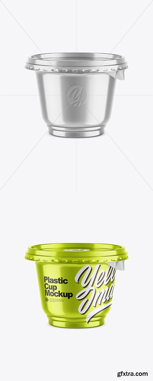 Metallized Plastic Cup Mockup 43267