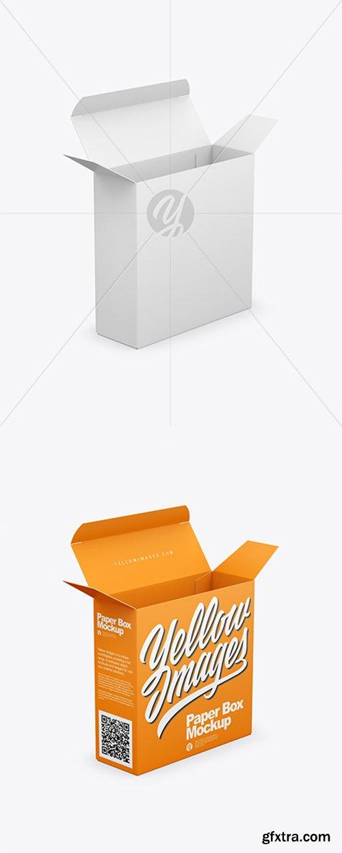 Opened Paper Box Mockup 43320