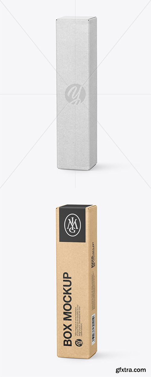 Kraft Paper Box Mockup 43324