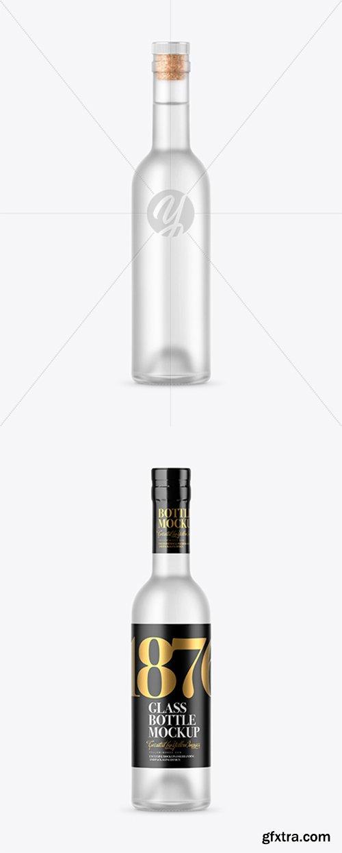 Frosted Glass Vodka Bottle Mockup 42934