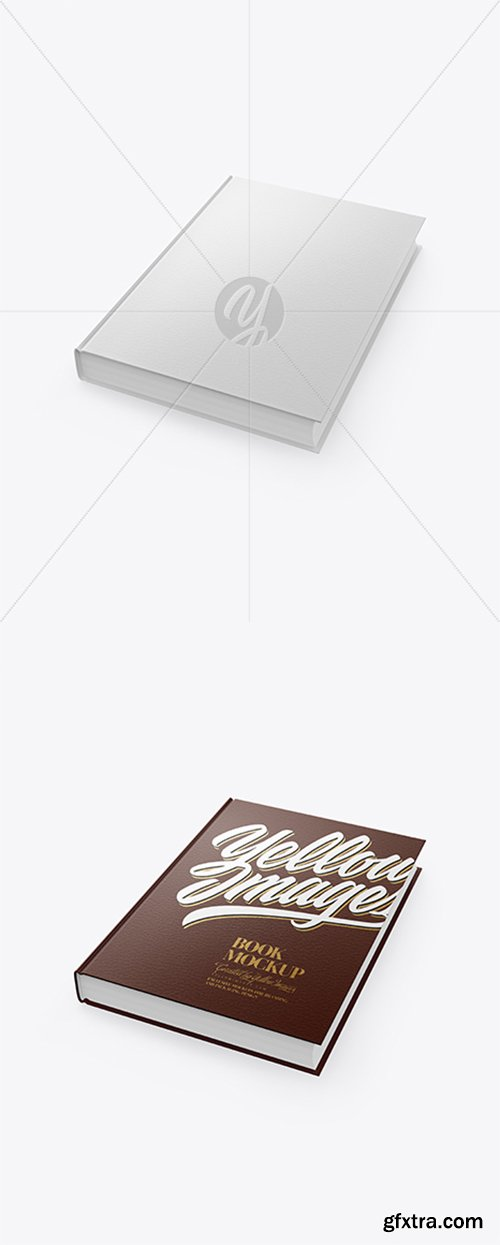 Book w/Leather Cover Mockup 42869