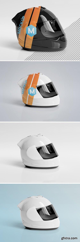 Isolated Motorcycle Helmet on White Mockup 267839919