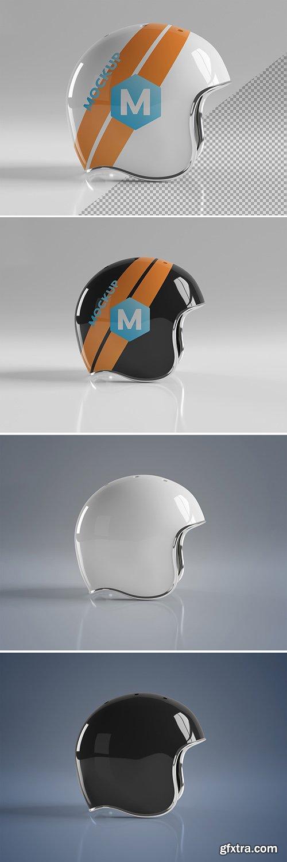 Isolated Motorcycle Helmet on Grey Mockup 267840011