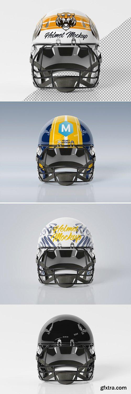 Isolated American Football Helmet on White Mockup 269076987