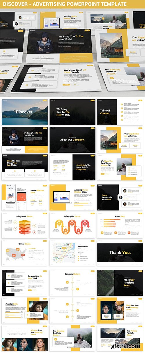 Discover - Advertising Powerpoint Template