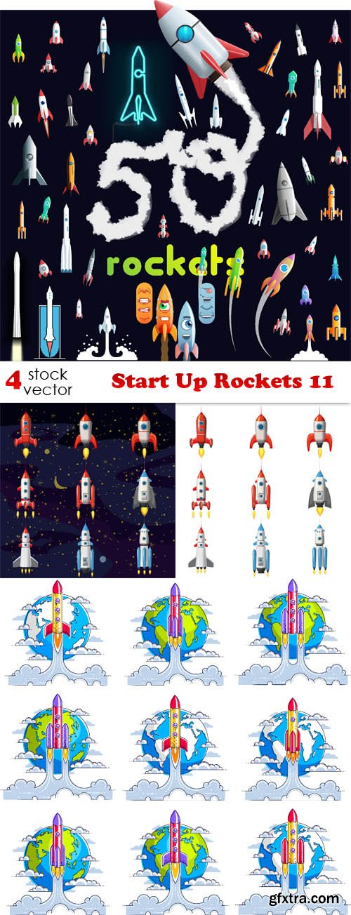 Vectors - Start Up Rockets 11