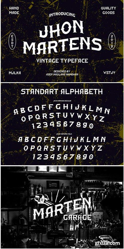 Jhon Martens Font