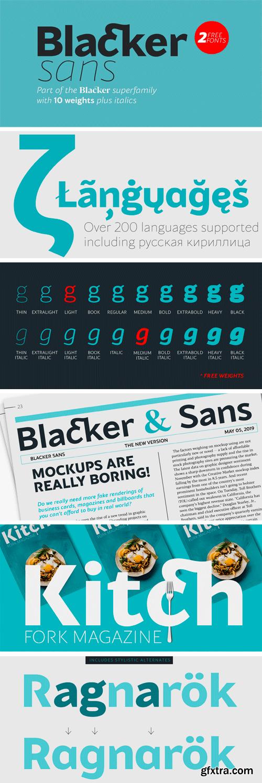 Blacker Sans Font Family