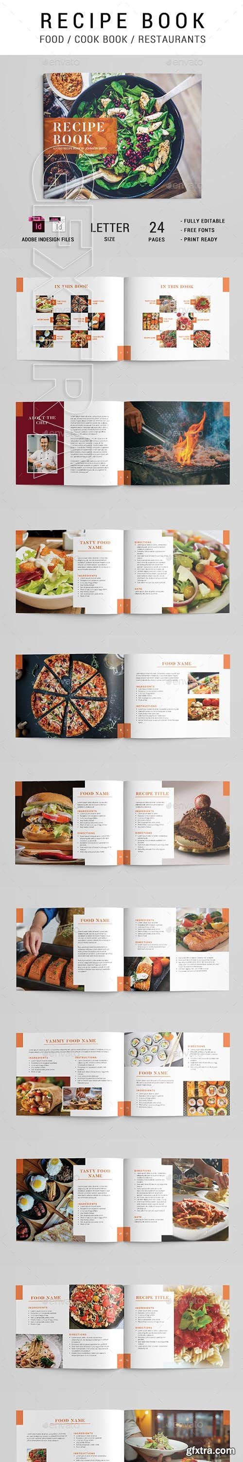 GraphicRiver - Cook Book Recipe Brochure 23822539