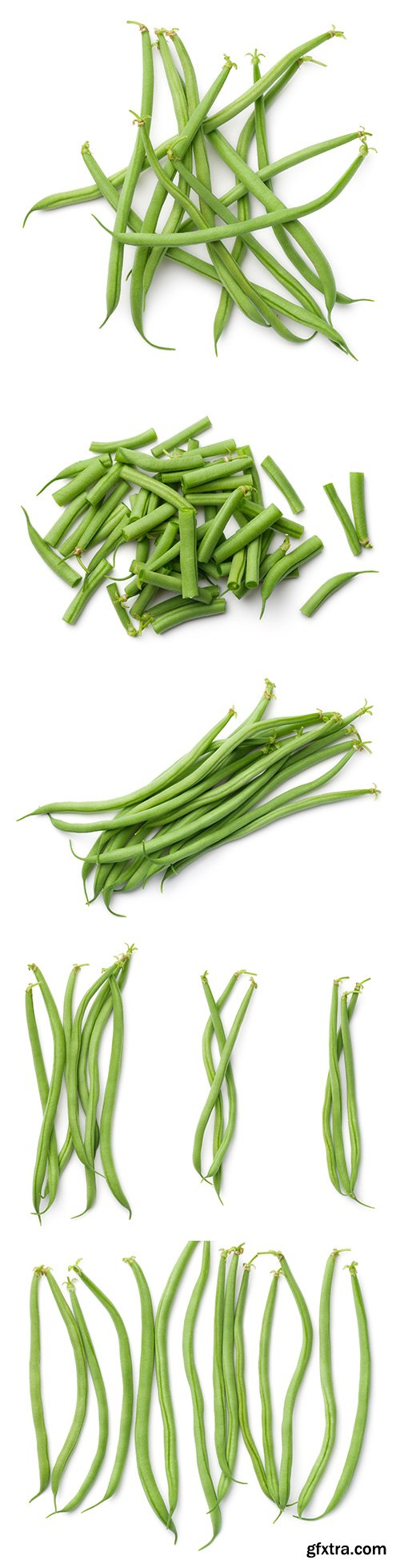 Green Beans Isolated - 5xJPGs