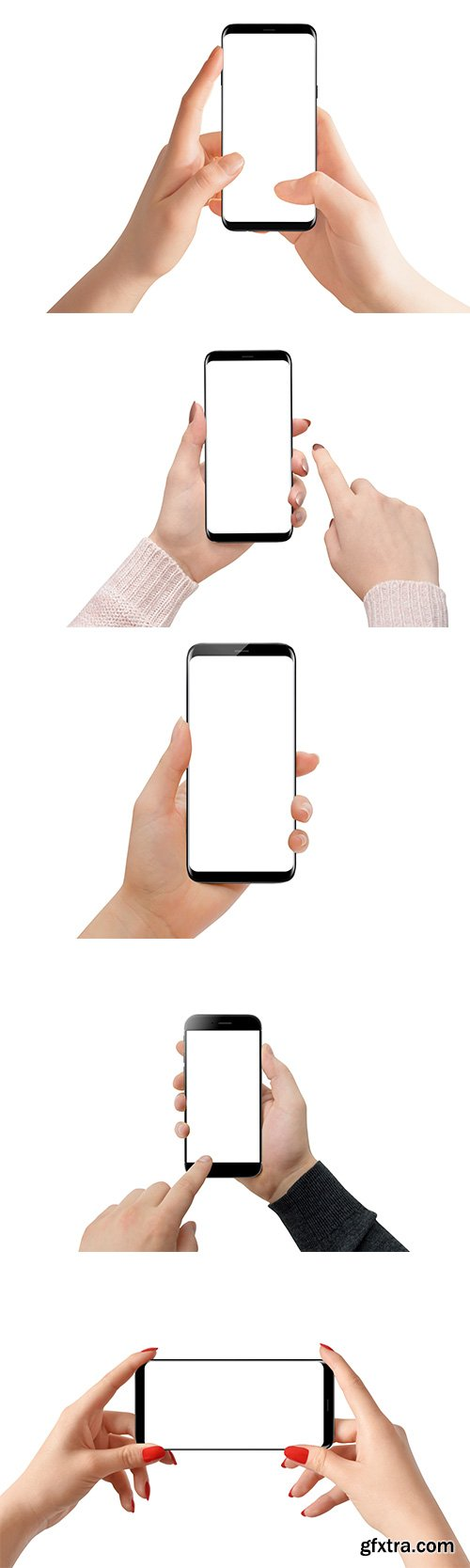 Hand Holding Modern Smartphone Isolated - 15xJPGs