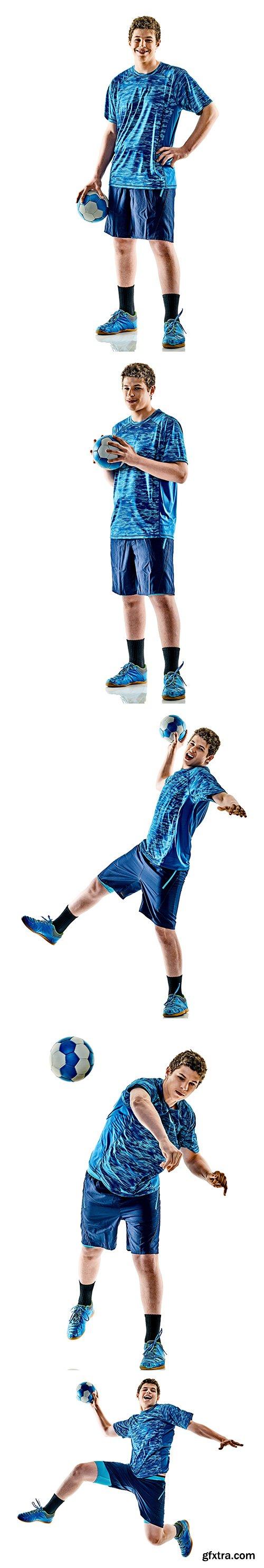 Handball Player Isolated  - 9xJPGs