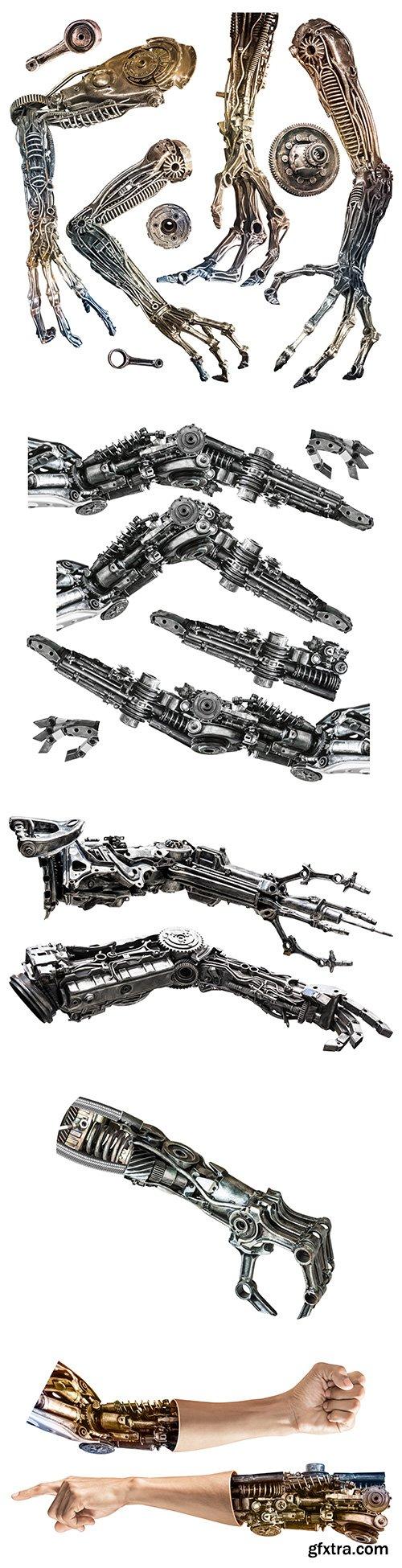 Metallic Robot Hand Isolated - 10xJPGs