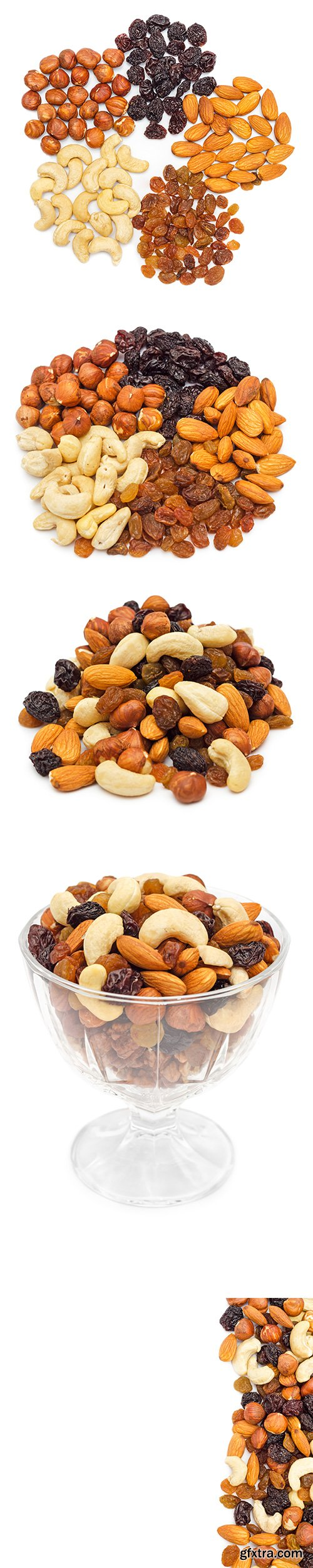 Mixed Nuts Isolated - 7xJPGs