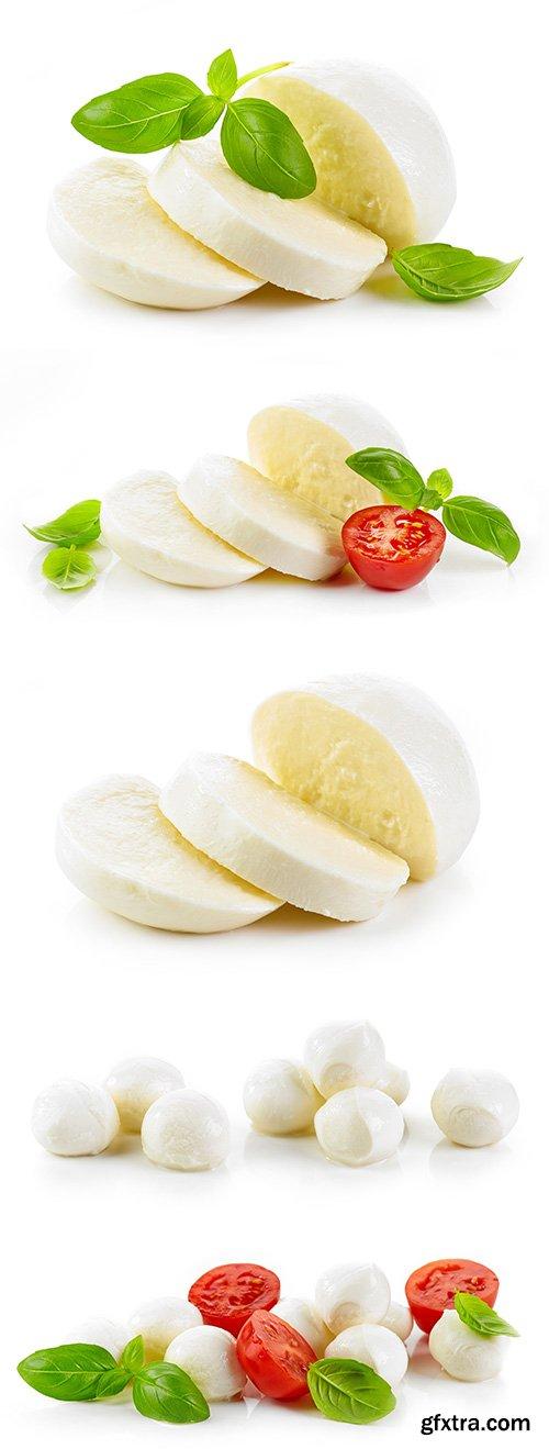 Mozzarella Cheese Isolated - 6xJPGs