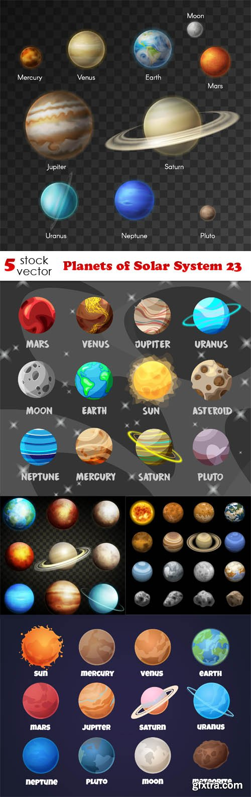 Vectors - Planets of Solar System 23