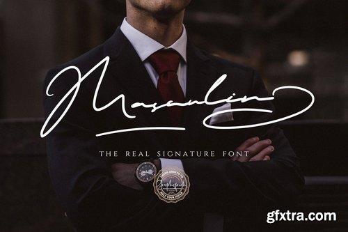 CM - MASCULIN - The Real Signature Font 3800667