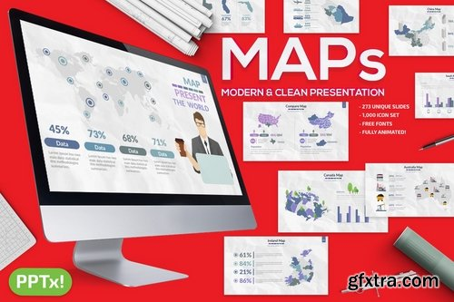 Map Powerpoint and Keynote Templates