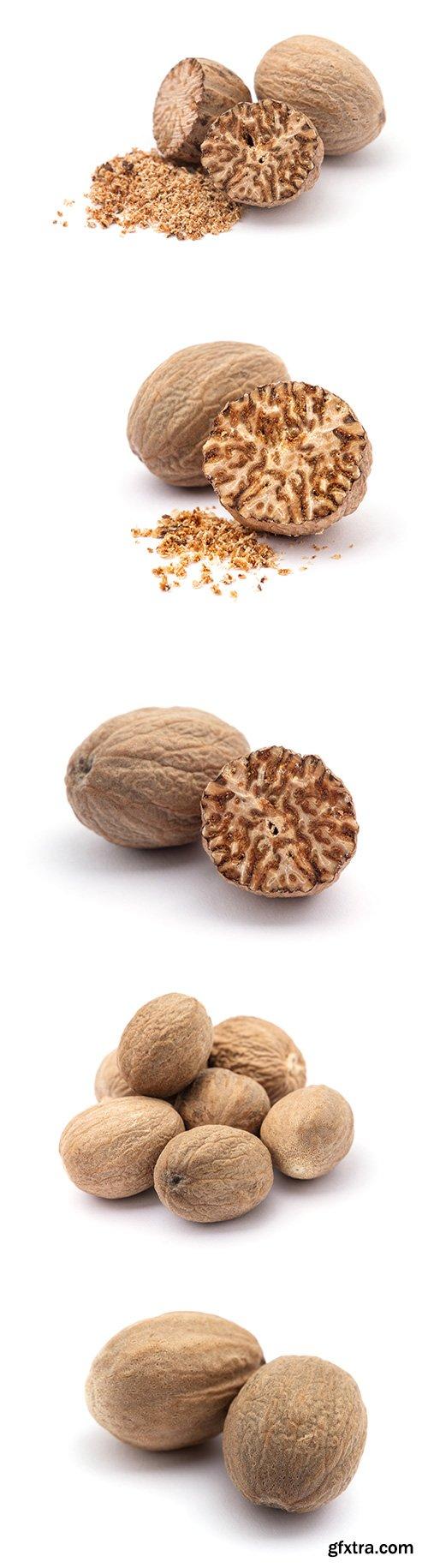 Nutmeg Isolated - 5xJPGs