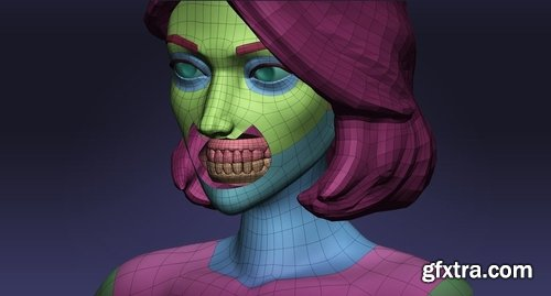 Cgtrader - Female cartoon base mesh 3D model