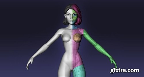 Cgtrader - Female cartoon base mesh 3D model