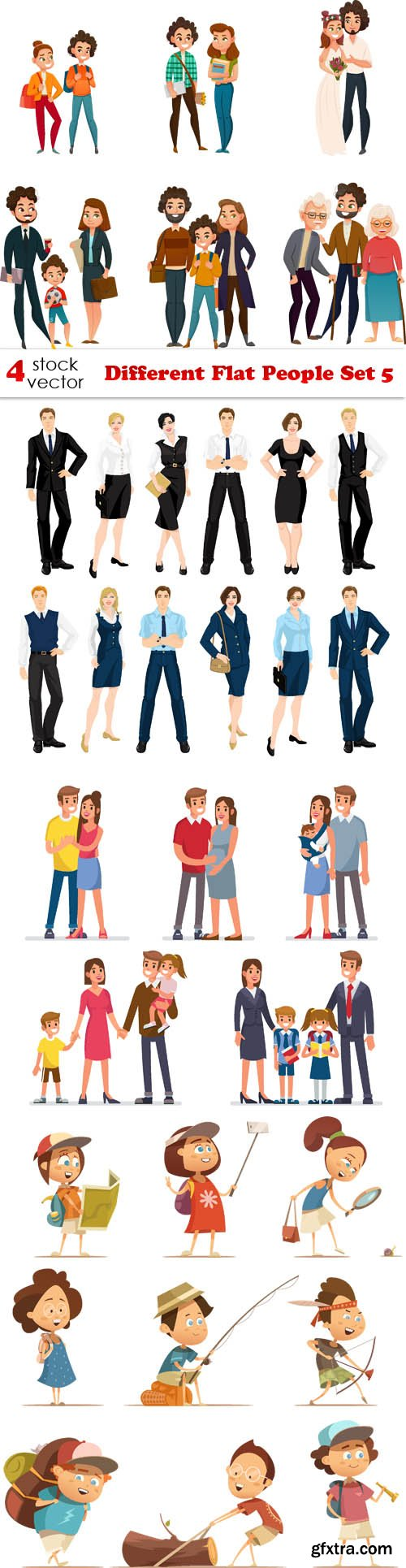 Vectors - Different Flat People Set 5