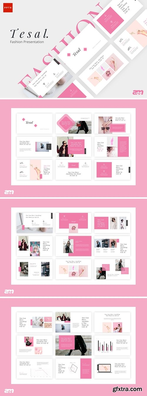 Tesal Fashion Powerpoint, Keynote and Google Slides Templates