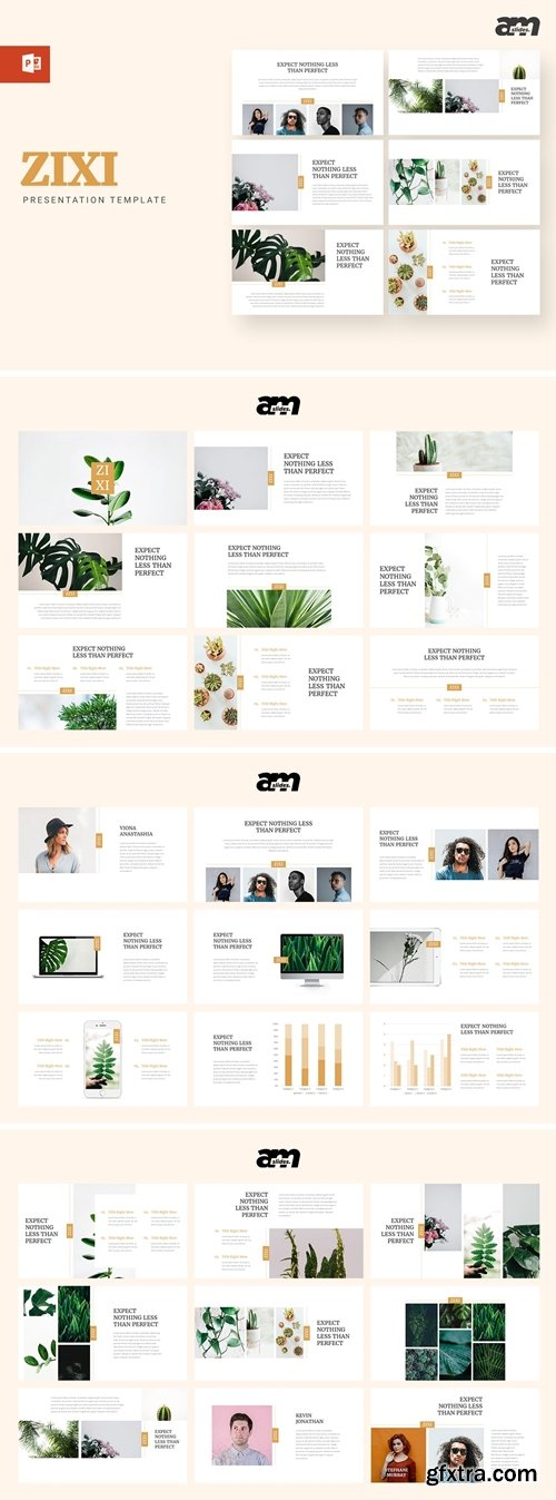 Zixi Powerpoint, Keynote and Google Slides Templates