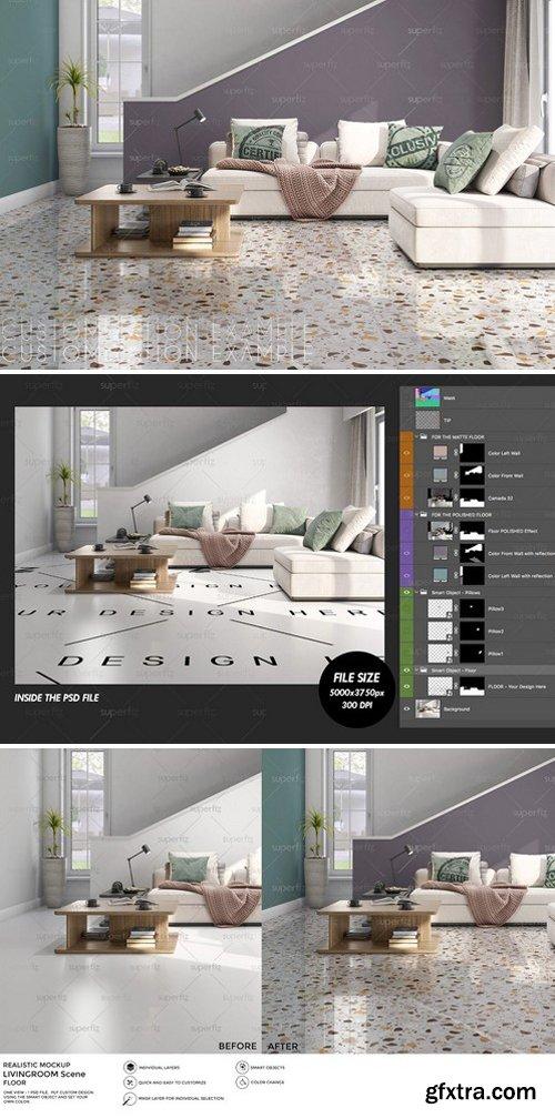 CM - Floor Mockup Livingroom Scene SM27 2960869
