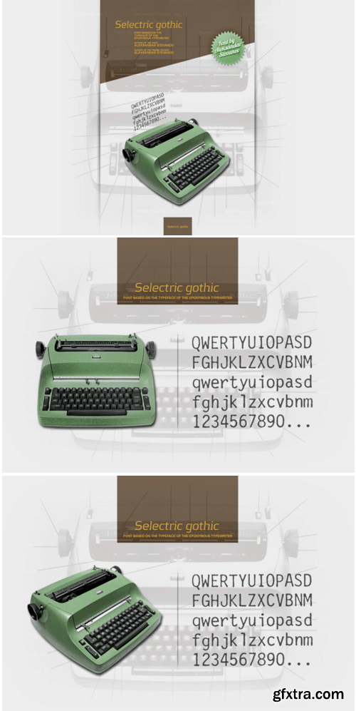 Selectric Gothic Font