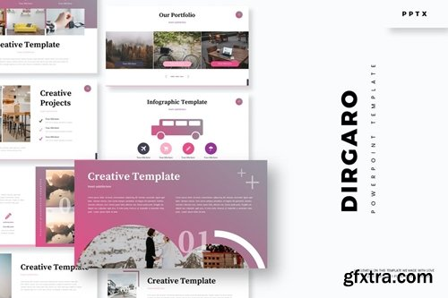 Dirgaro Powerpoint, Keynote and Google Slides Templates