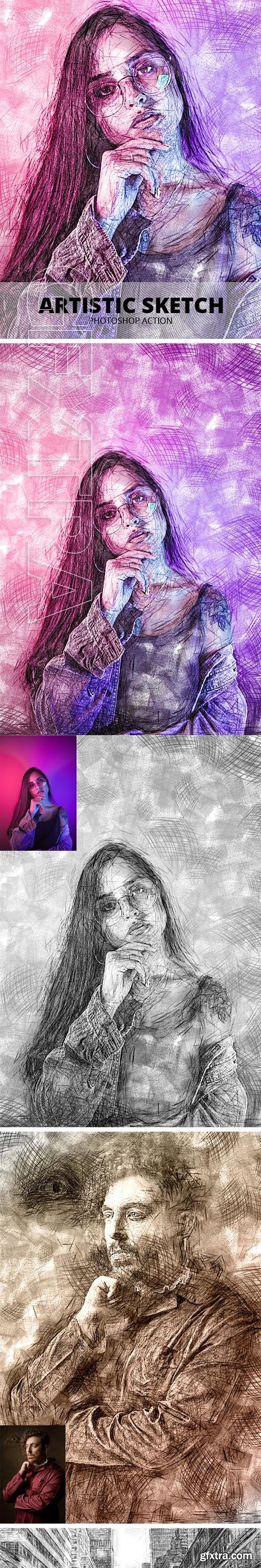 GraphicRiver - Artistic Sketch Photoshop Action 23796175