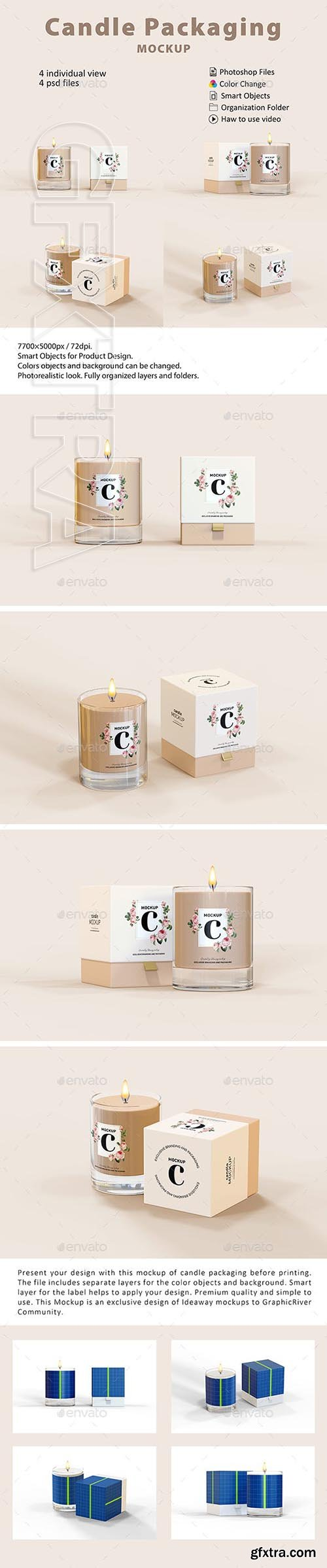 GraphicRiver - Candle Packaging Mockup 23814229