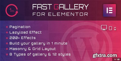 CodeCanyon - Fast Gallery for Elementor WordPress Plugin v1.0 - 23853601