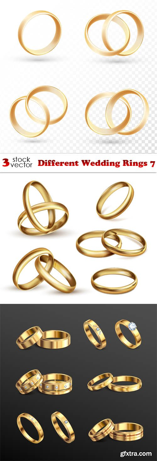 Vectors - Different Wedding Rings 7