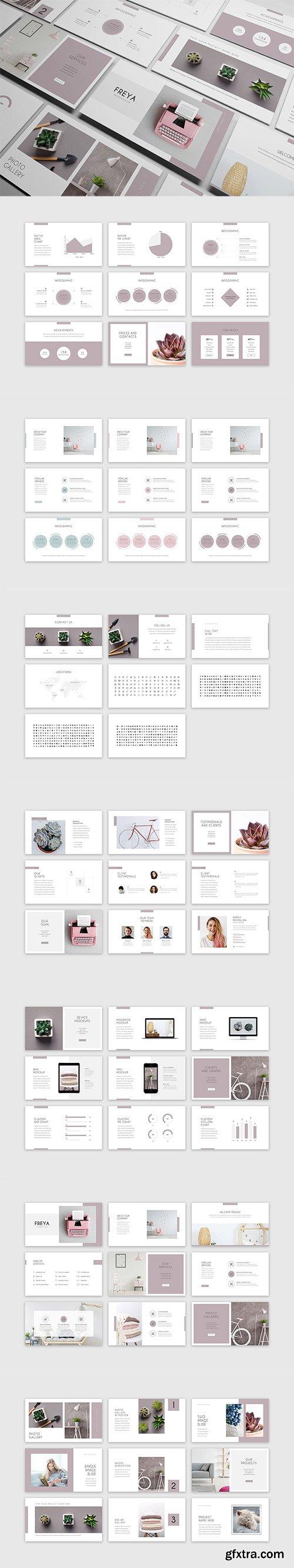 Freya Minimal PowerPoint Presentation Template