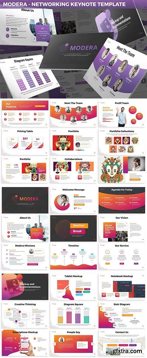 Modera - Networking Keynote Template