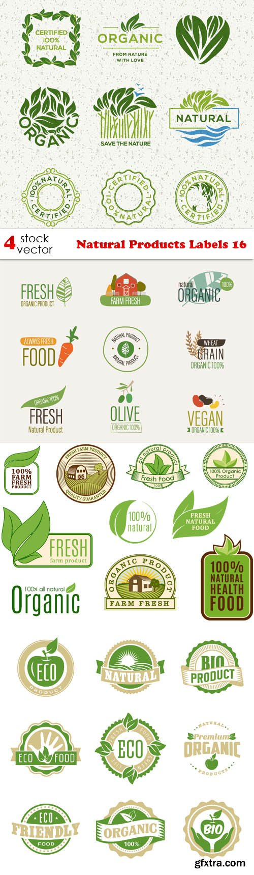 Vectors - Natural Products Labels 16